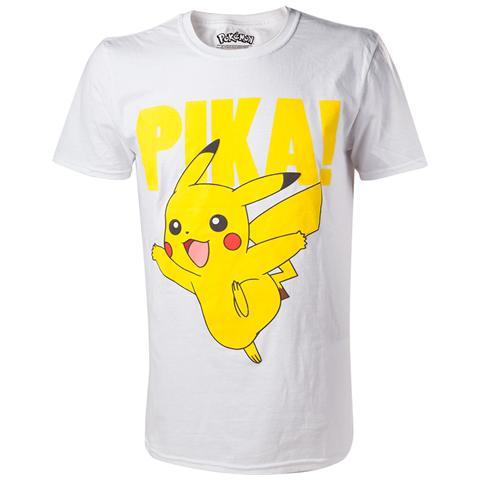 BIOWORLD Pokemon - Pikachu Printed Crewneck (T-Shirt Unisex Tg. XL)