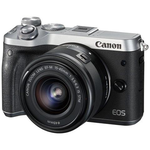 CANON EOS M6 Kit EF-M 15-45mm f / 3.5-6.3 IS STM Sensore CMOS 24 Mpx Video Full HD Wi-Fi NFC Bluetooth