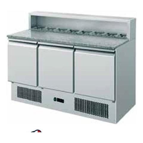 Saladette Refrigerata Statica Pizzeria Gn1/1 3 Sportelli +2 / +8