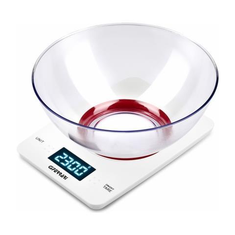 G3 FERRARI G20071 Da tavolo Rettangolo Bilancia da cucina elettronica Rosso, Bianco bilancia da cucina