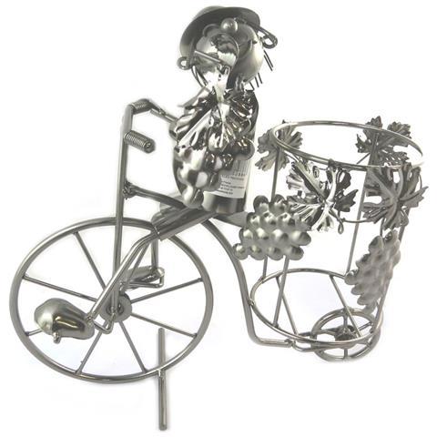 Les Trésors De Lily bottle holder 'sculpture métal' mietitrice triciclo - [ p1458]