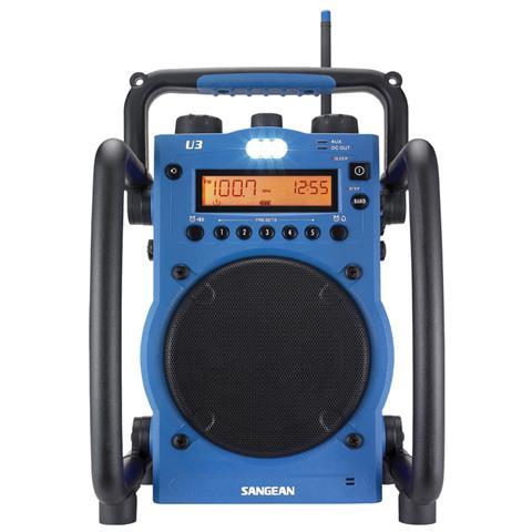 SANGEAN Radio Digitale Nera e Blu 10.3 x 15 x 6.7 cm U-3-EU