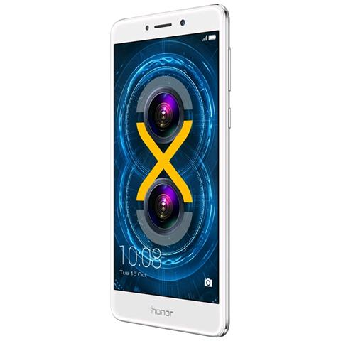 "HONOR 6X Argento 64 GB 4G/LTE Dual Sim Display 5.5"" Full HD Slot Micro SD Fotocamera 12 Mpx Android Italia"