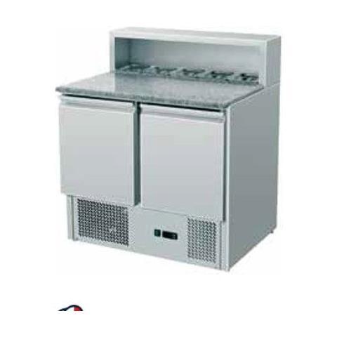 Saladette Refrigerata Statica Pizzeria Gn1/1 2 Sportelli +2 / +8