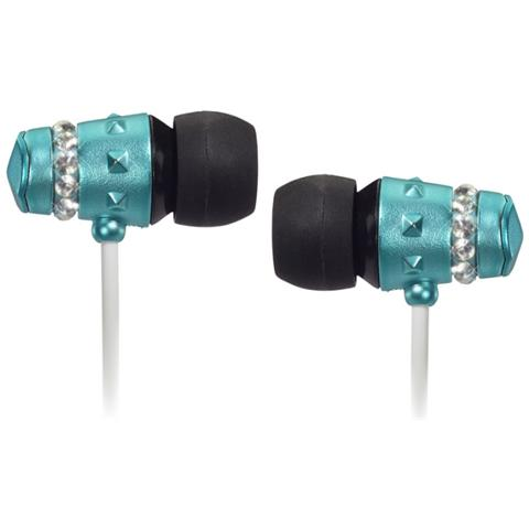 """MAROO MA-EP8003, Stereofonico, 3.5 mm (1/8"""") , Interno orecchio, Nero, Blu, Bianco, Cablato, Intraurale"""