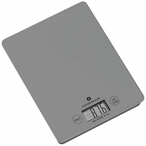Bilancia Da Cucina Digitale Tortora Vetro Cm 16,5x20,5x2
