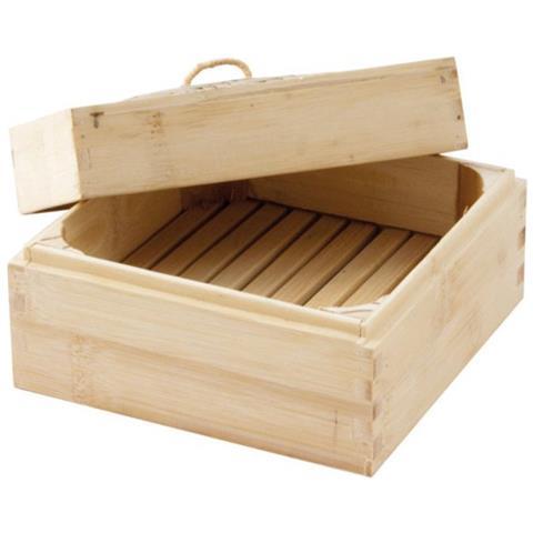 Cuoci Vapore Quadrato Cm 16,5x16,5 Bamboo