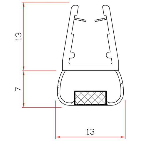 10pz Guarnizione X Box Doccia Mt. 2 Mod. 411