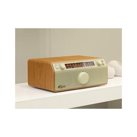 Sangean Radio da Tavolo in Legno 11.6 x 4.9 x 8 cm WR12-EU