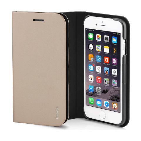 FONEX Shine Book Custodia a Libro per Iphone 6/6S Colore Oro