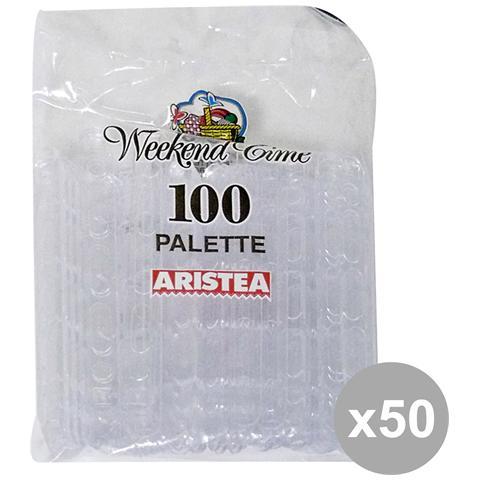 GNP Set 50 Palettine Caffè X 100 Pezzi Art. 790308 Posate