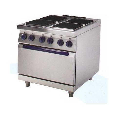 Cucina Professionale Elettrica 4 Piastre+forno Cm 80x70x85 Rs0755