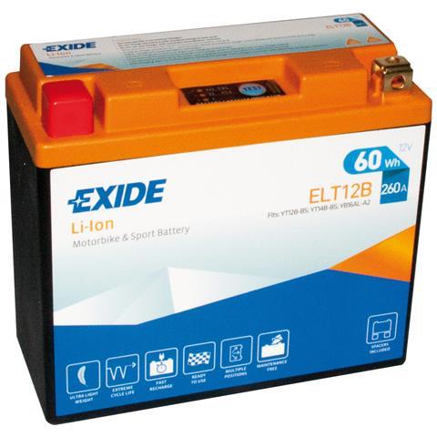 Exelt12b Batteria 12v Bike Li-ion Lifepo4 60 Wh 260 A