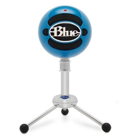 BLUE MICROPHONES Snowball Neon Blu Microfono Professionale Usb per Windows e Mac