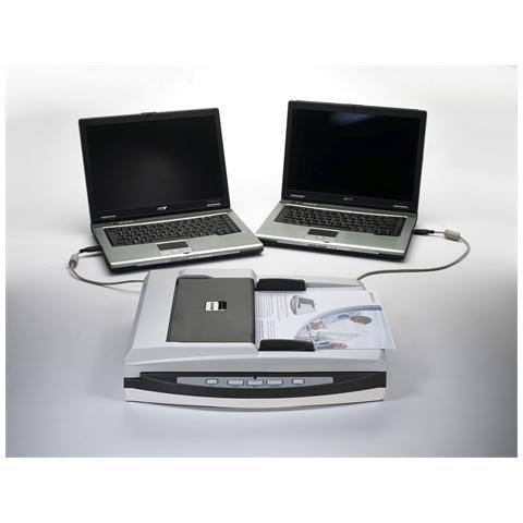 Scanner piano Plustek SmartOffice PL1530 - 600 dpi Ottico - 48-bit Colore - 16-bit Scala d...