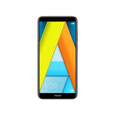 """HONOR 7A Nero 16 GB 4G / LTE Display 5.7"""" HD Slot Micro SD Fotocamera 13 Mpx Android Tim Italia"""
