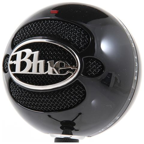 BLUE MICROPHONES Snowball Gloss Black Microfono Professionale Usb per Windows e Mac