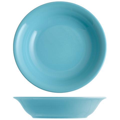 H&H Set 6 Piatto Coupe Iris Azzurro Fondo 20 Tableware