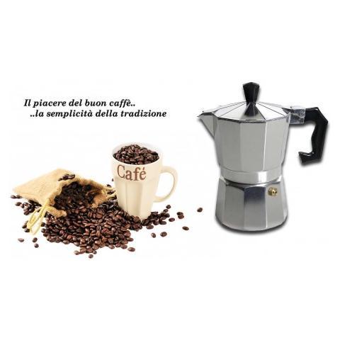 Caffettiera Moka 1 Tazza Classica Welkhome CaffਠEspresso Fatto In Casa Manico Plastica