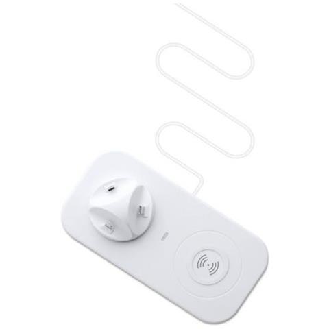 Caricabatterie Ios, Microusb, Type-c + Caricabatterie Wireless Per Smartphones