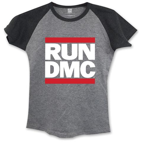 ROCK OFF Run Dmc - Logo Grey (T-Shirt Donna Tg. L)