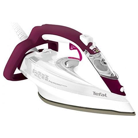 TEFAL FV 5549 Aquaspeed Precision Ferro da Stiro a Vapore Potenza 2600 Watt Colore Viola / Bianco