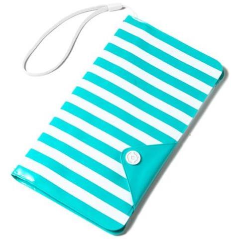 """CELLY SplashWallet per Smartphone da 5.7"""" colore Azzurro"""