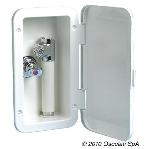 Box doccia con miscelatore tubo PVC 2,5 m a parete