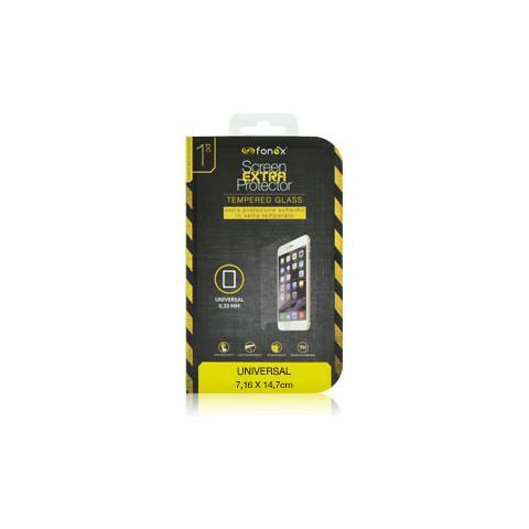 """FONEX Protezione Schermo in Vetro Temperato Universale Da 5,3"""" A 5,5"""" 7,16x14,7 cm (1Pz)"""
