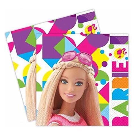 Barbie Tovaglioli Carta Barbie 33x33 Cm, Festa Compleanno Ps 06702