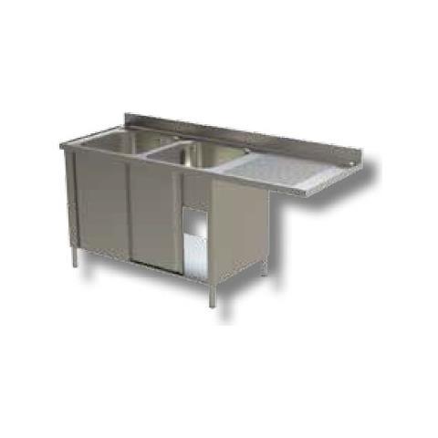 Lavello 160x70x90 Acciaio Inox 430 Armadiato Vano Lavastoviglie Cucina Rs7096