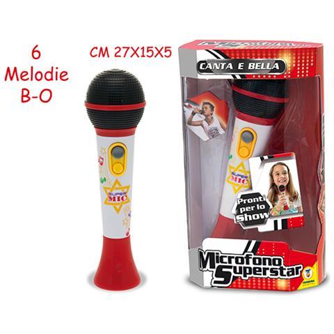 PLAYMATES Microfono Superstar A Batteria, Multicolore, 64409