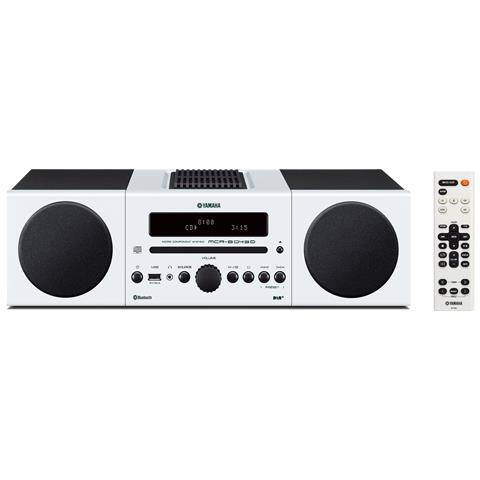 YAMAHA Sistema Micro Hi-Fi MCR-B043 DAB / DAB+ Lettore CD Supporto MP3 / WMA Potenza Totale 30Watt Bluetooth USB colore Bianco