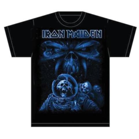 ROCK OFF Iron Maiden - Final Frontier Blue Album Spaceman (T-Shirt Unisex Tg. L)