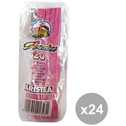 GNP Set 24 Cucchiai Colorato 20 Pezzi Fucsia Art. 791343 Posate