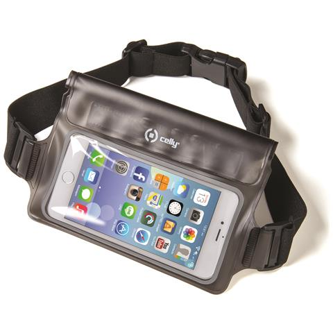 "CELLY SplashBelt cintura elastica impermeabile per Smartphone da 5.7"" colore Nero"