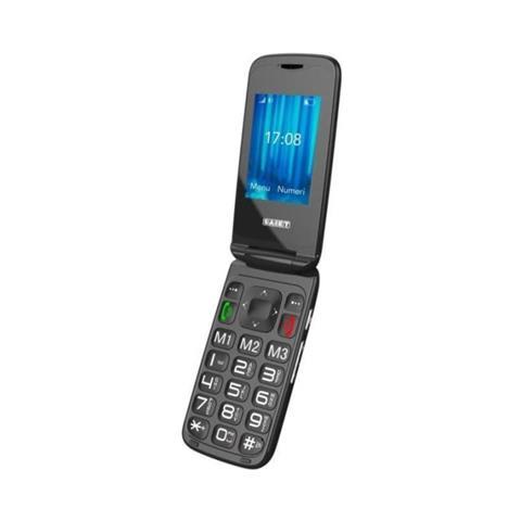"SAIET Vista Senior Phone Dual Sim Display 2.4 "" Slot MicroSD con Tasti Grandi + SOS Fotocamera Colore Grafite - Italia"