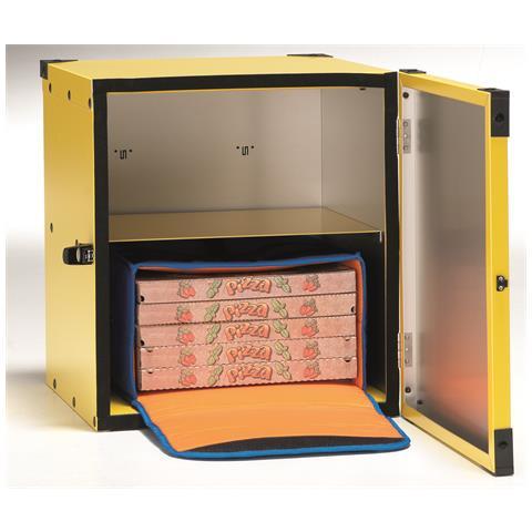 Box Pizza Di Gimetal Non Coibentato, Ripiano Centrale Per 2 Borse Termiche Diam. 50