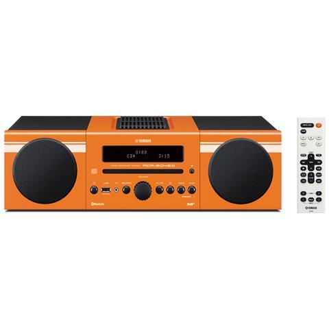 YAMAHA Sistema Micro Hi-Fi MCR-B043 DAB / DAB+ Lettore CD Supporto MP3 / WMA Potenza Totale 30Watt Bluetooth USB colore Arancione