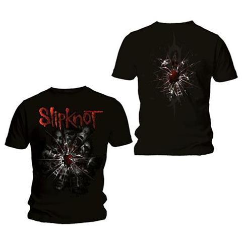 ROCK OFF Slipknot - Back Print Shattered Black (T-Shirt Unisex Tg. 2XL)