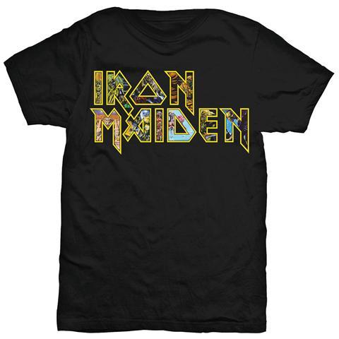 ROCK OFF Iron Maiden - Eddie Logo Black (T-Shirt Unisex Tg. M)
