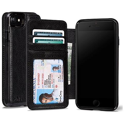 SENA Cases iPhone 7 Wallet Book nero