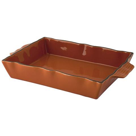 Habi Pirofila Stoneware Rettangolare Con Manico Arancio 31 Strumenti Da Cucina