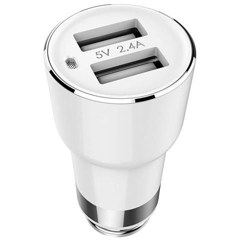 XIAOMI Roidmi 2S Caricatore da Auto con Doppia Porta USB Colore Bianco