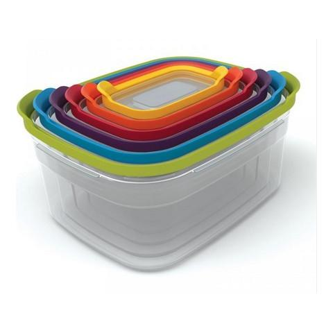Set Contenitori Plastica Blu, Verde, Arancione, Porpora, Rosso, Trasparente, Giallo