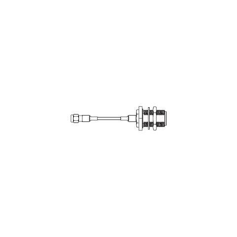 Zebra 25-85392-01R RP-SMA Tipo N Argento cavo di interfaccia e adattatore