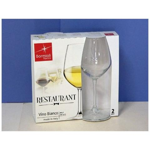BORMIOLI Confezione 2 Pezzi Calice da Vino Capacità 44,5 Cl. - Modello Restaurant