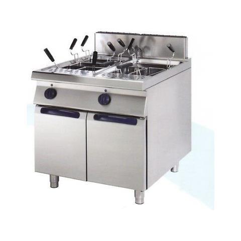 Cuocipasta Gas Professionale 2 Vasche 40+40 Litri Cm 80x90x85 Rs0780