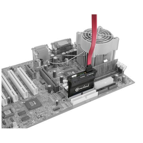 Connectland 0301518, 2x SATA, IDE / PATA, 4-pin FDD power, Maschio / femmina, Nero, FCC, N13059, 1,5 Gbit / s