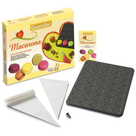 GUARDINI Scatola Regalo Kit Macarons Composto Da: Teglia permacarons; 30 Sacchetti Saccapoche; 1 Beccuccio